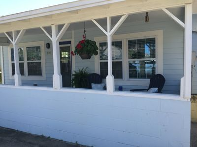 Relax on cozy front porch