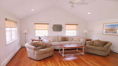 Light, bright, and airy! Sit back, relax, and enjoy! -Queen size pull out sofa in this room- 142 George Ryder Road S Chatham Cape Cod - New England Vacation Rentals
