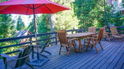 Enormous outdoor deck.  Perfect for a book read or star gaze!