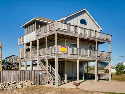 Photo for Decked Out Semi-Oceanfront in Rodanthe w/ Solar Htd Pool, Hot Tub, Walk to Beach