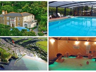 Photo for 3~Short walk~Beach~Pubs~Shops: Chlorine safe Pool and Hot tub, Games room, WiFi