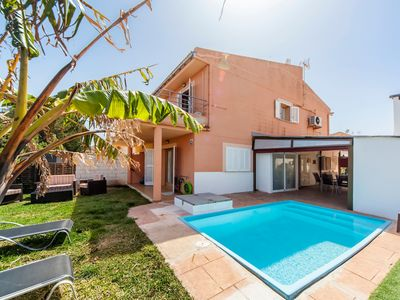 Photo for Stylish holiday home with a view and pool – Casa Can Blau