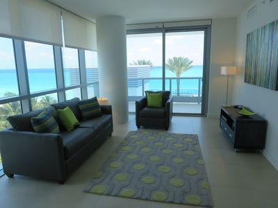 Photo for Miami Beach Ocean Front 1BR | Outdoor Pool | Gym