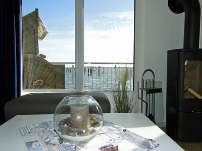 Photo for 5 star apartment with sauna, balcony, WiFi & fantastic water view