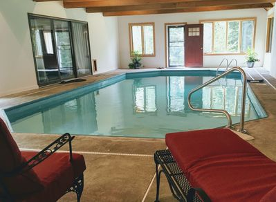 The Pool!  32 x16' indoor saltwater pool. Open year-round!