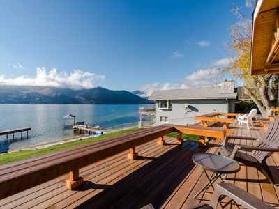 Photo for Lovely lakefront home w/private dock & spacious back deck facing Lake Chelan!