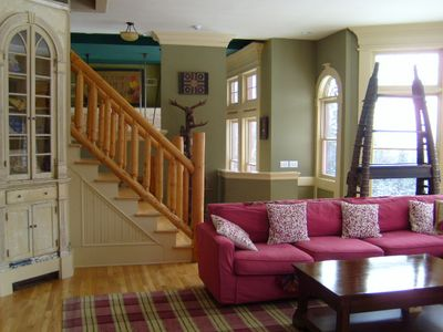 Main Living Room with view of Mt Snow
