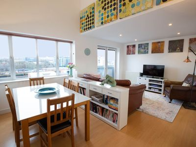 Photo for Beautiful 2 storey penthouse with roof garden, stunning views and free parking.