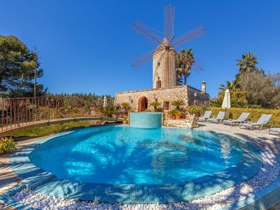 Photo for Air-Conditioned Country House with Tower, Pool, Jacuzzi, Terraces, Wi-Fi and Gorgeous Garden