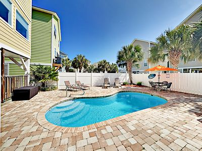 Photo for Surfside Stunner w/ Elevator, Private Pool & Golf Cart - 2 Blocks to  Beach