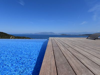 Photo for July promotion: Sublime Villa, sea view, pool on the south bank of Ajaccio