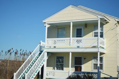 Cottages 2 and 3 are mirror images with two bedrooms, bath, kitchen and livingrm