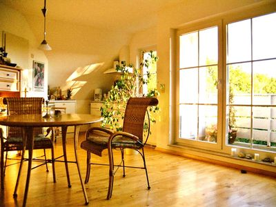 Photo for Bright, homely maisonette to relax with a quiet, sunny south-facing balcony