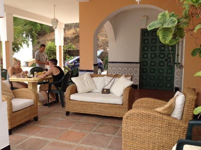Outside Dining and relaxation area