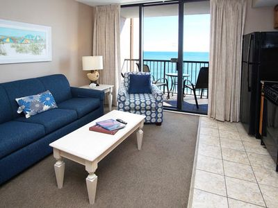 Photo for Beach Colony 1202, Lovely 1 Bedroom Oceanfront Condo with Indoor Outdoor Pools, Hot Tubs, Lazy River and Kiddie Pool