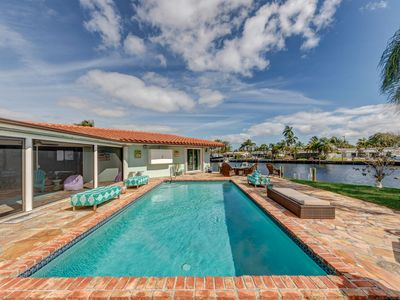 Photo for Waterfront Escape: Pool, hot tub, 10 min to beach!