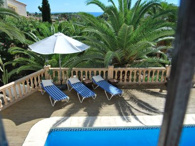 Photo for Spacious villa, private and beautifully located in a quiet area with sea view.