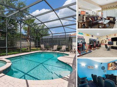 Photo for 3 Bed Home with Private Pool & Spa, Games Room, Theater Room, Kids Bedroom & Mor