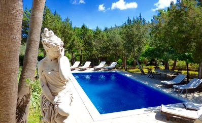 Photo for Lovely finca near Ibiza town and Playa d'en Bossa, 5 Bedrooms, pool, BBQ