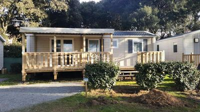 Photo for Campsite Bord de Mer *** - Mobile home 4 Rooms 6 People sea view