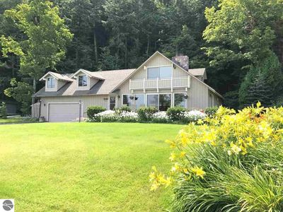 Photo for Beautiful home on the south shore of Crystal Lake with private lake frontage