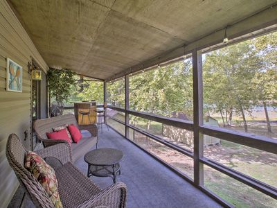 Photo for NEW! Lakefront Table Rock Home - 2 Porches, Kayaks