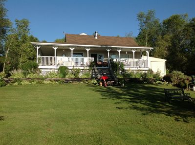 Front of cottage with wrap around verandah