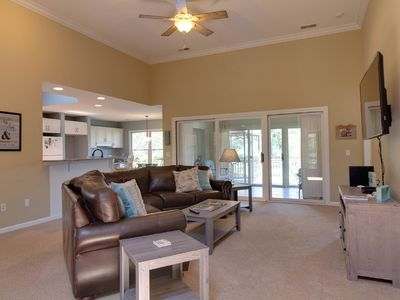 Photo for Spacious Sea Pines Home With Beautiful View! Community pool and Tennis! 4 Bikes!
