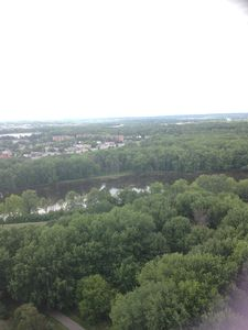 Overlooking Ottawa and Gatineau River and Gatineau park with mountain view