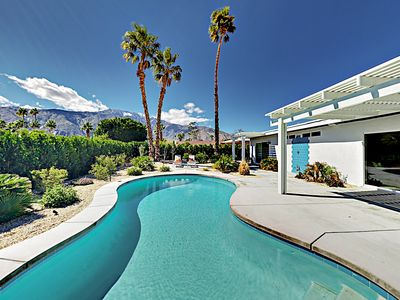 Photo for Contemporary Haven w/ Private Saltwater Pool, Mountain Views & Fire Pit