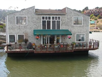 One of the largest houseboats in marina