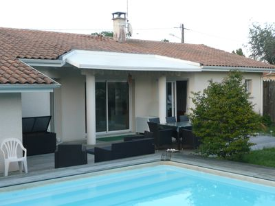 Photo for Charming villa with private pool Lege Cap Ferret nearest beach prox. Lacanau