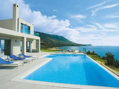 Photo for Luxury cliff top villa with panoramic sea views