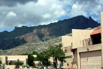 Views of the majestic Santa Catalina Mountains from your front patio