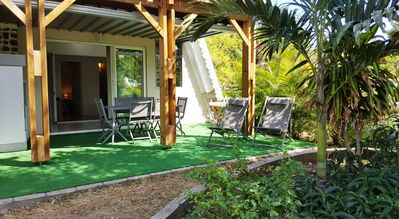 Photo for T3 rez of garden in residence with tropical garden with 300 m of the lagoon