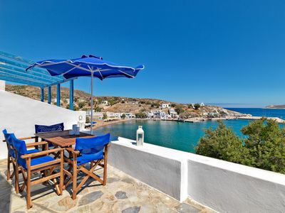 Photo for 'PANI BLUE IN KIMOLOS UP TO 4 GUESTS BEACHFRONT - Two Bedroom Villa, Sleeps 5