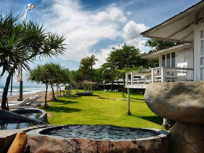 Photo for Beachfront, 8 Bedroom villa, Feature Gardens, Car + Driver, Pure Luxury, Canggu