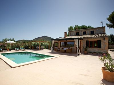 Photo for Beautiful villa with pool and sea views 4 km from the beaches of Alcudia