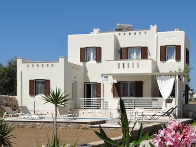 Photo for PLAKA ,SEA VIEW VILLA WITH PRIVATE  POOL AND GARDEN, 700 M. FROM PLAKA BEACH