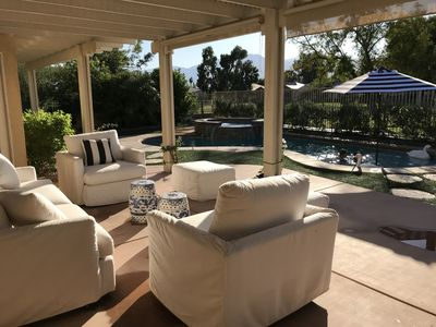 Photo for WOW!  First time on rental market. This private pool view home is it!