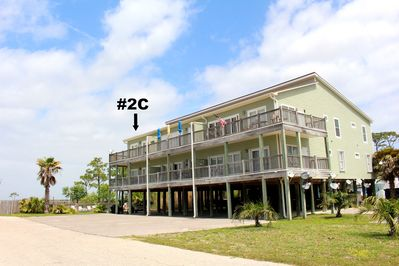 #2C is on the second floor and the end unit which overlooks the waterfront/pool