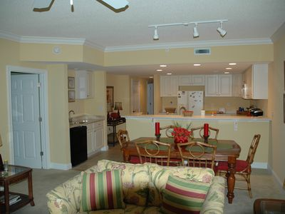 Photo for Spacious three bedroom three bath ocean block  condo with rooftop swimming pool
