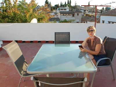 Photo for Terrace in Albaicin, WIFI, next to Mirador de San Nicolás, easy parking