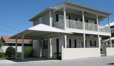 Front - Key West style beach house with beach view.