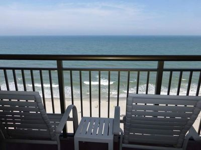 Photo for Caravelle Resort 11th Flr Direct Ocean Front Sleeps 8, Kitchen , Balcony!