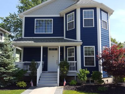 Photo for Beautiful home! 3 blocks to beach & town!