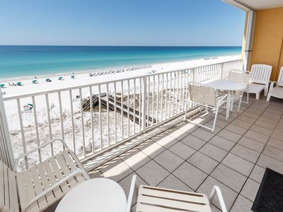"""Photo for """"Gulf Dunes Unit 613"""" Beautiful Direct Gulf Front View!! Spacious 3 bedroom unit"""
