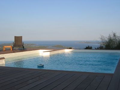 Photo for PANORAMIC SEA AND MOUNTAIN VIEWS PRIVATE HEATED SWIMMING POOL AC