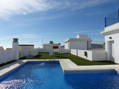 "Photo for ""20 minutes from Malaga"" new 2 bedroom apartment, shared pool, beach 500m"