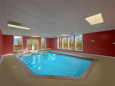 Photo for Enjoy views of Mt LeConte with a Private Indoor Pool and Theater Room